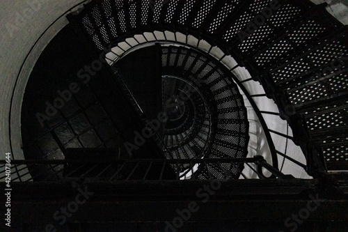 Fotografering spiral staircase in the lighthouse