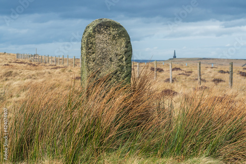 Canvas Print White House to stoodley Pike on the Pennine Way The South Pennines is a region of moorland and hill country in northern England lying towards the southern end of the Pennines