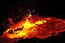 Lac De Lave Du Volcan Erta Ale En Ethiopie
