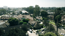 Daytime Aerial View Of The City Of Rowland Heights, California, CA.