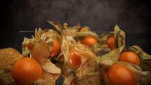 Physalis Golden Berries In Close-up - Studio Photography