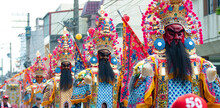 Holy Generals Parade In Taiwan Folk Temple Activity. Temple Fair. Taiwanese Culture.