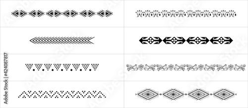 Obraz vector set of curlers - fototapety do salonu