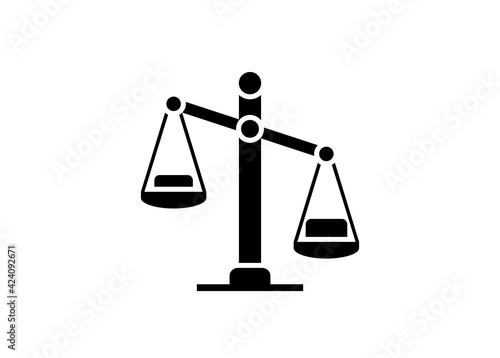 Obraz na plátně Imbalance concept. Simple illustration in black and white.