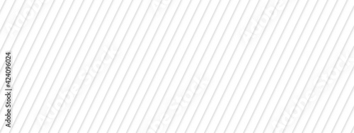 Obraz na plátne Abstract white striped background with diagonal lines