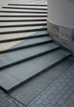 Sunlit Granite Staircase With