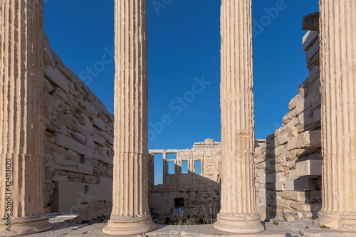 Fototapety, obrazy: Columns of Erechtheion temple on the Acropolis near Parthenon, Athens, Greece.