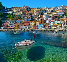 Parga Tourist Resort In Greece Sea Beach Summer Holidays