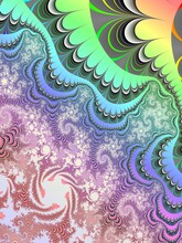 The Best Trend Prints, Rainbow Abstract Pattern With Graphic Elements, Rainbow-a Symbol Of Mutual Help Between People, Fractal Pattern
