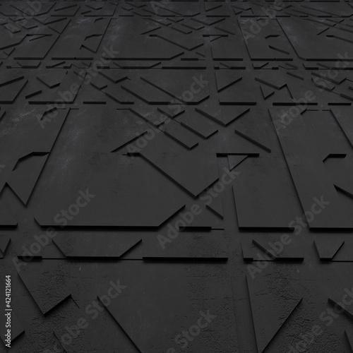 Obraz 3D Geometric Abstract Background - fototapety do salonu