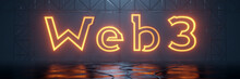Glowing Neon Tube Word Web3