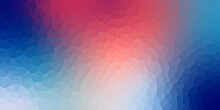 Abstract Crystallize Bright Gradient Blue Pink Red Colored Blurred Background.
