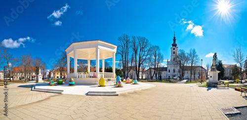 Obraz Town of Bjelovar central square springtime panoramic view - fototapety do salonu