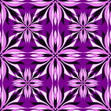 Gorgeous Seamless Pattern. Purple Ornamental Tiles