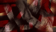 Burgundy, Gray And Light Backlit Wide Scuff Marks On A Black Background. Abstract Background For Your Design.