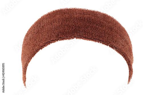 Brown training headband isolated on white Fototapet