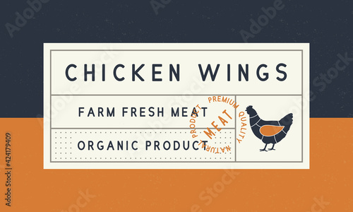 Obraz na plátně Vintage label, sticker, tag