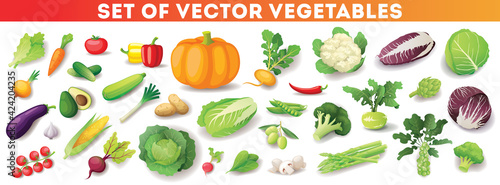 Foto Colorful fresh vegetables set isolated, organic healthy food
