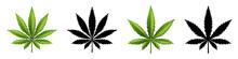 Marijuana Leaf Or Cannabis Leaf Weed Icons