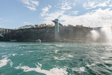 Observation Point Made Of An Old Bridge Near American Falls, A Part Of Niagara Falls