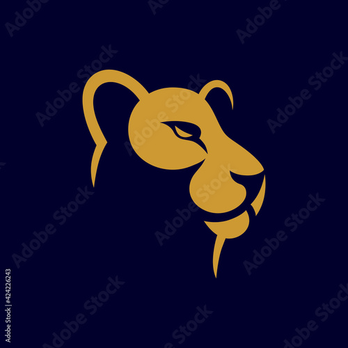 Fotografia Lioness logo design, vector illustration