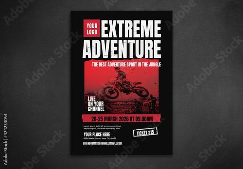 Fototapeta Extreme Adventure Flyer obraz