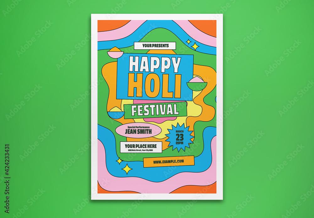 Fototapeta Holi Festival Flyer