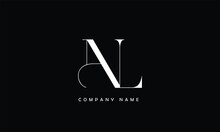NL, LN, N, L Abstract Letters Logo Monogram