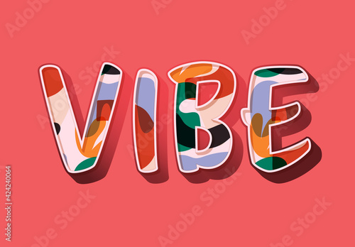 Colourful Pattern Text Effect
