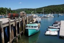 Northeast Harbor On Mt Desert Island In Maine USA