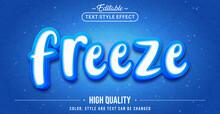 Editable Text Style Effect - Freeze Text Style Theme.