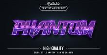 Editable Text Style Effect - Phantom Text Style Theme.