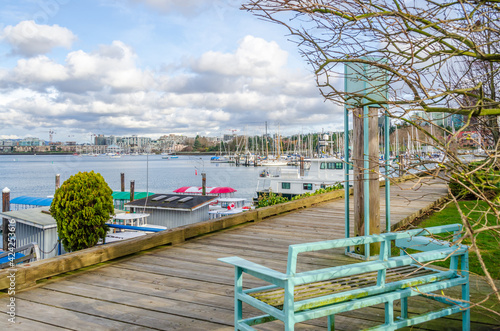 Stampa su Tela Sea walk at the Sutcliff Park on Granville Island in Downtown of Vancouver, Canada