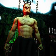 Frankenstein's Monster Comes Alive In The Doctor Frankenstein's Laboratory.