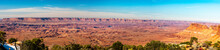 Panoramic View From The Needles Overlook To The Canyonlands National Park, Utah