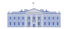 White House Front Entrance Beautiful Building USA