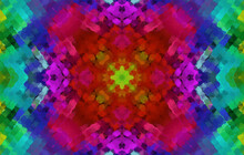 Geometric Design, Mosaic Of A Vector Kaleidoscope, Abstract Mosaic Background, Colorful Futuristic Background, Geometric Triangular Pattern. Mosaic Texture. Stained Glass Effect. EPS 10 Vector.