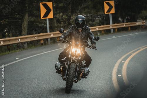 Obraz na plátně moto en la carretera
