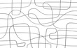 Black and white illustrated abstract line pattern background