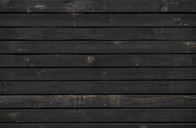 Wooden Slats, Texture Of The Surface Of The Picture Of The Wall Lathing Of Wood In Black Color.