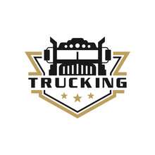 Transport Truck Shield Logo
