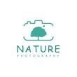 nature photography logo design vector