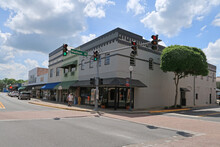 Bars, Restaurants, Shops And Buildings In Historic Downtown Lake City, Florida.