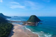 Beautiful View From Red Island Beach Banyuwangi Indonesia.