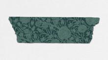 Wild Tulip Washi Tape Green Journal Sticker Remix From Artwork By William Morris