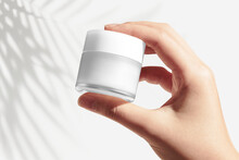 White Makeup Pod Beauty Product Packaging With Design Space