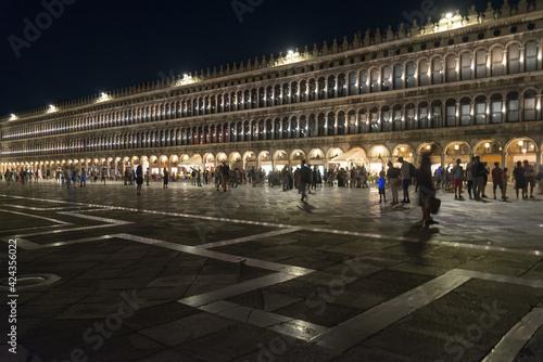 Fototapeta Piazza San Marco at night, Venice