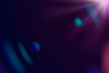 Abstract Purple Lens Flare Background