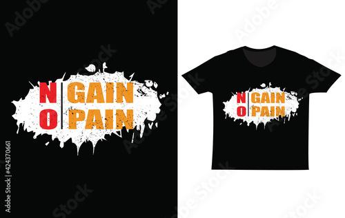 Carta da parati No pain no gain , T shirt design, Black t shirt, Text effect