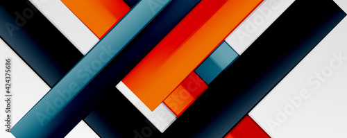 Fototapeta Color abstract lines trendy geometric background for business or technology presentation, internet poster or web brochure cover, wallpaper obraz